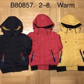Акция на складе! Куртки на меху для мальчиков Grace 2-8 лет(80857)