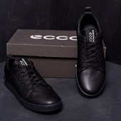 Стильные мужские кожаные кеды Ecco из натуральной кожи