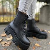 Новинка кожаные ботиночки на зиму