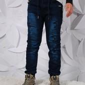 Утеплённые джинсовые джогеры Grace Венгрия р. 116-146 В наличии 122;!!