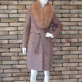 пальто с натуральным мехом песца 1500 грн, р 42-50