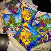 Новогодние подушки. Отличный подарок для деток