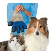 Перчатка для вычесывания домашних питомцев!Низкая цена!отправка в день оплаты!