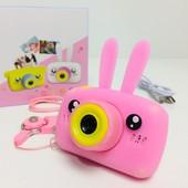 Детский цифровой фотоапарат камера Зайчик 20Мп Full HD 1080p