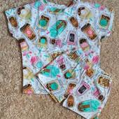 Летние комплекты футболка шорты на девочку выкуплены