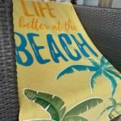 Пляжные полотенца микрофибра махра