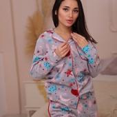 Пижама флисовая теплая