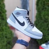 Мужские кожаные зимние кеды хайтопы Nike air Jordan