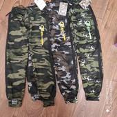 Якісні зимові штанішки джогери на меху в стилі мілітарі фірми Золото