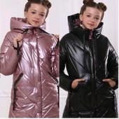 Куртка-пальто зимняя для девочек от 140 до 158 р, качество,теплая, тренд сезона